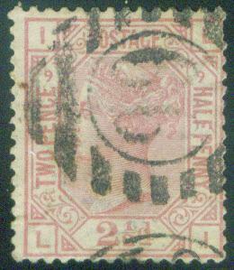 Great Britain Scott 67, SG 141, Victoria CV$52 Plate 9a 1876
