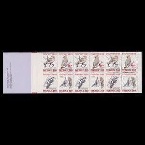SWEDEN 1984 - Scott# 1520a Booklet-Birds NH