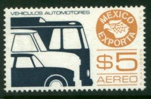 MEXICO Exporta C497, $5P, Cars/buses. Unwmk Fosfo Paper 4. MINT, NH. VF.