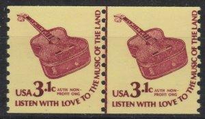 US 1613, Coil Pair Line Pair, MNH, Guitar