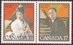 Canada #860-61 17 cent Musicians mint OG NH XF
