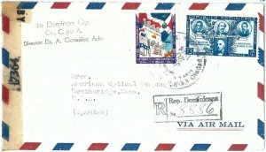69257 - DOMINICANA - POSTAL HISTORY - REGISTERED COVER to SPAIN 1944 - CENSORED