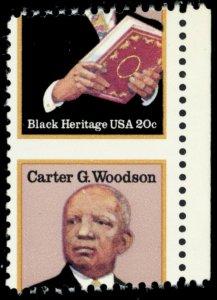 2073, Mint NH Misperfed Error 20¢ Carter Woodson Stamp - Stuart Katz