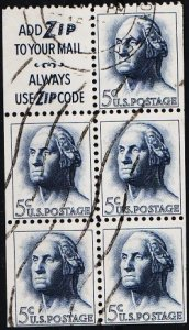 USA. 1965 5c(Booklet Pane) S.G.1265 Fine Used
