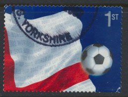 GB Used  from SG MS 2292  SC# 2056b World Cup Football  Right Quarter of Flag