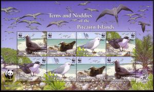 Pitcairn WWF Seabirds Miniature Sheet of 2 sets SG#MS728 MI#717-720 SC#647a-d
