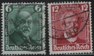 GERMANY, 470-471, USED, SET, 1936, GOTTLIEB DAIMLER