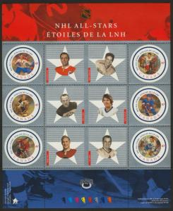 Canada 1885 MNH NHL All Stars, Sports, Ice Hockey
