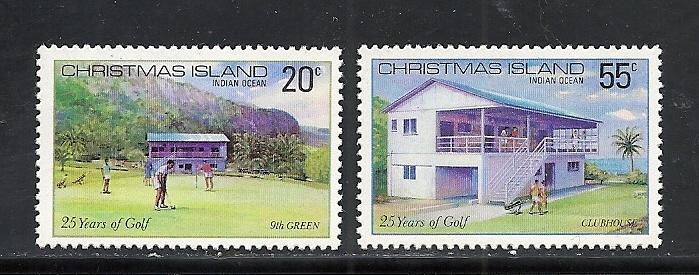 Christmas Island #93-4 comp mnh Scott cv $1.30 Golf