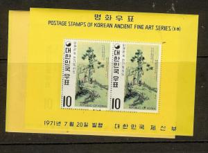 KOREA (P0502B) ANCIENT ART  SC787A-9A  MNH
