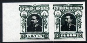 Honduras 1891 Pres Bogran 10p imperf pair being a 'Hialea...