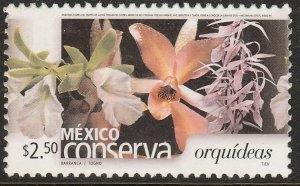 MEXICO CONSERVA 2411, $2.50P ORCHIDS. MINT, NH. VF.