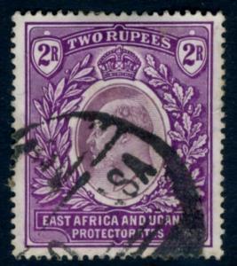 EAST AFRICA & UGANDA-1906 2r Dull & Bright Purple Sg 27 GOOD USED V15525