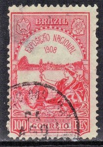 BRAZIL  SC# 189   USED  1908  NATIONAL EXPO.   SEE SCAN