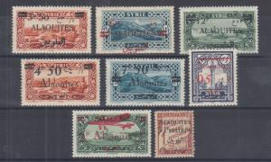 Alaouites Sc 38//J5 MLH. 1925-1928 stamps ovptd for Alaouites, 8 different