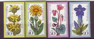 J24942 JLstamps 1975 germany berlin set mnh #9nb119-22 flowers