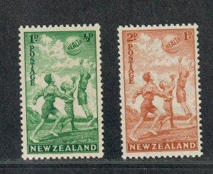 New Zealand Sc#B16+B17 M/NH/VF, Cv. $32