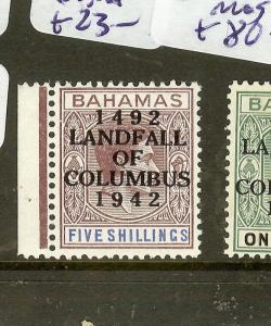 BAHAMAS (P2605B) 1942 LANDFALL COLUMBUS L1   SG175   MNH  DOT IN D