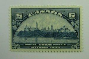1933 Ottawa  Canada SC #202  5 cent  MH  F-VF stamp