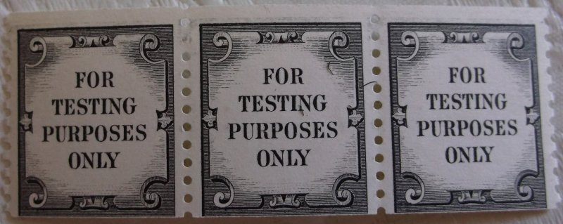United States Test Stamp TD112 MNH Strip of Three