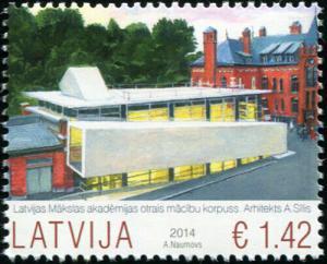 Latvia. 2014. Latvijas Academy of Arts (MNH OG) Stamp