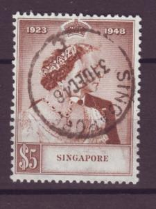 J21360 Jlstamps 1948 singapore hv of set used #22 silver wedding