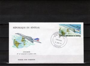 Senegal 1976 F.D.C. 1st.Fly Concorde Set (1) Sc# C145