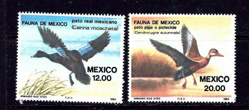 Mexico 1346-47 MNH 1984 Ducks
