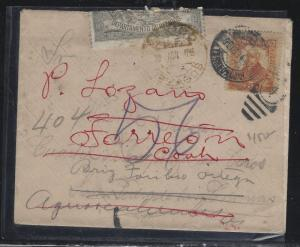 MEXICO  (PP2604B)   5C 1914 COVER OFFICIALLY SEALED