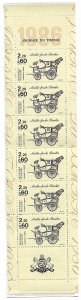 1987 France B582a Stamp Day MNH complete booklet of 6+2 labels