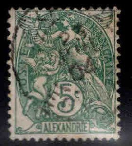French office in Alexandria Egypt Scott 20 Used  stamp