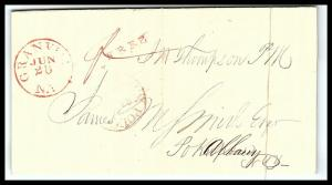GOLDPATH: US STAMPLESS COVER 1836, GRANVILLE, N.Y.   W/LETTER    _CV58_P12