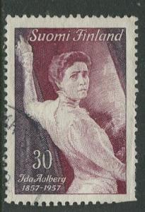 Finland - Scott 351 - Ida Aalberg -1957- Used - Single 30m Stamp