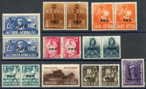 SOUTH WEST AFRICA SCOTT# 135-43 SG# 114-22 MINT NEVER HINGED AS SHOWN