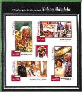 A3510-Sao Tome & Principe ERROR INPERF 2015 PEOPLE Nelson Mandela