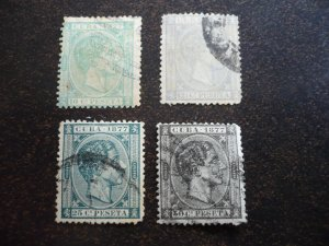 Stamps - Cuba - Scott# 71-74 - Used Partial Set of 4 Stamps