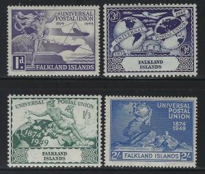 Falkland Islands 1949 Universal Postal Union set Sc# 103-06 mint