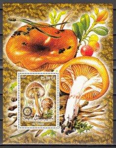 Congo Dem. Rep., 2002 issue. Mushrooms s/sheet. ^