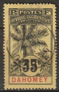 Dahomey 1906 Sc 25 used Cotonou CDS