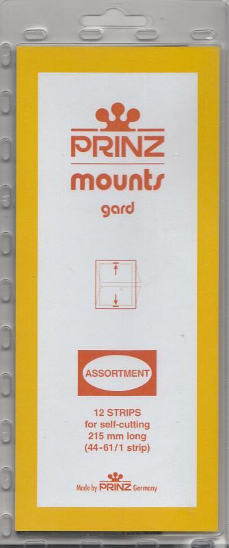 PRINZ CLEAR MOUNTS 215A2 44-61 (1 STRIP EACH) (12) RETAIL PRICE $13.00