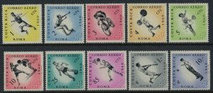 Costa Rica #C303-13*  CV $20.90  1960 Olympics set & Souvenir sheet