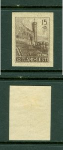 Estonia. 1941. Reval 15 +15. Imperforated MLH. Scott# NB1.
