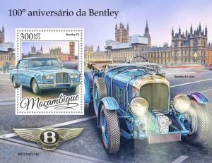 MOZAMBIQUE - 2019 - Bentley Cars - Perf Souv Sheet - MNH