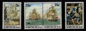 Norfolk Island Sc 417-20 1987 Bicentennial  stamp set mint NH