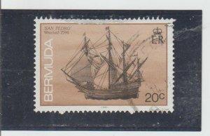 Bermuda  Scott#  488a  Used  (1990 Shipwreck)