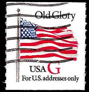 # 2892 USED G STAMP OLD GLORY