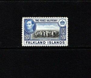 FALKLAND IS - 1938 - KG VI - FLOCK OF SHEEP - # 87 - SCAN 1 - MNH SINGLE!