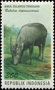 Indonesia 1997 Sc 1737e Anoa Dwarf Buffalo