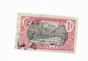 French Polynesia #49 Used - Stamp - CAT VALUE $3.50