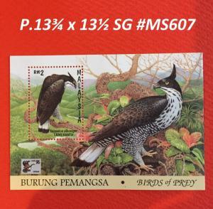 Malaysia 1996 Birds of Prey MS MNH P.13¾ x 13½ SG #MS607a